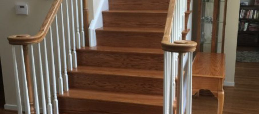 Powhatan before and after stair remodel