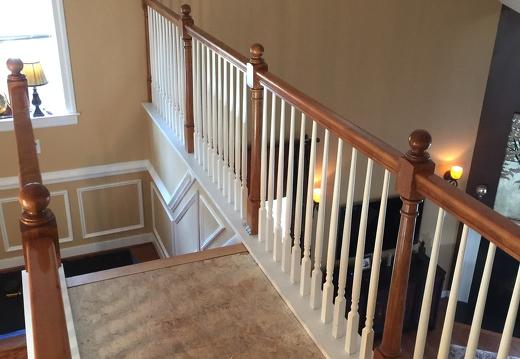 Beautiful Before Stair Remodel Mechanicsville Virginia
