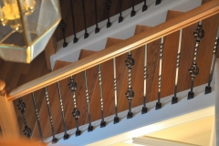 stain balck iron balusters by wm coffman