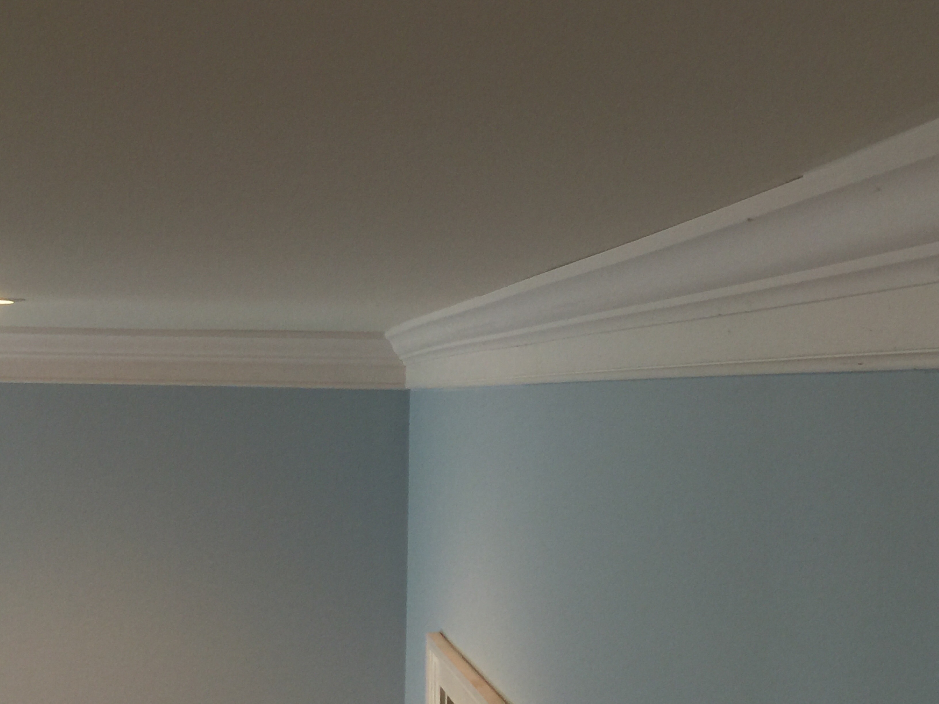 Two piece crown molding